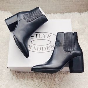 ✨New STEVE MADDEN Jaclyn Leather Pointed Booties